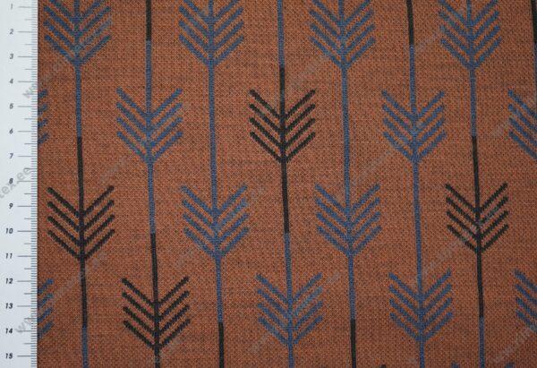 Meriinosegu žakaarkoeline trikotaaž nooled tellis/sinine